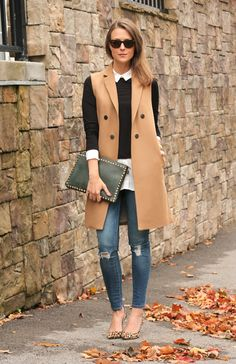 Trendy Fashion Casual Chic Plus Size Sweaters 29 Ideas Petite Outfits, Curvy Outfits, Trendy Outfits, Trendy Fashion, Winter Fashion, Fashion Trends, Womens Fashion, Long Vest Outfit, Vest Outfits