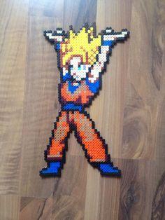Goku perler beads by SkySilverflame on deviantART
