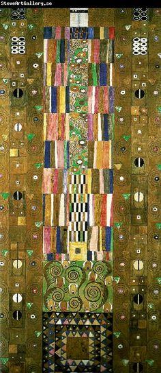 Gustav Klimt kartong for frisen i stoclet- palatset