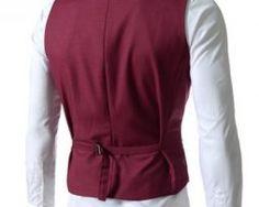 Kvalitná dvojitá pánska vesta ku obleku v červenej farbe Vest, Sweaters, Jackets, Dresses, Fashion, Down Jackets, Vestidos, Moda, Gowns