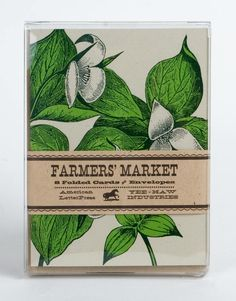 TRILLIUM LETTERPRESS CARDS Pack of 8 with Envelopes a6. $17.00, via Etsy.