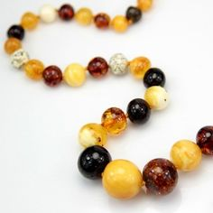 Multi Amber Beaded Necklace via Silver Linings $280