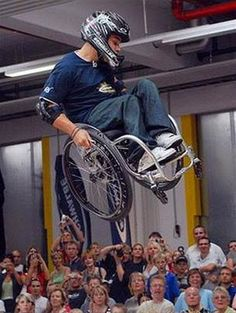 Crazy Sports: Extreme Wheelchair Athlete>>> See it. Believe it. Do it. Watch thousands of spinal cord injury videos at SPINALpedia.com