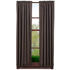 """Kettle Grove Lined Scalloped Plaid Short Curtain Panels 63"""" x 36"""""""