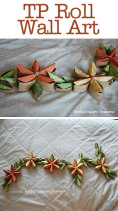 Toilet paper roll TP tube garland tutorial - Now this one is FANCY! Paper Towel Roll Crafts, Paper Towel Tubes, Paper Towel Rolls, Toilet Paper Roll Art, Toilet Paper Roll Crafts, Diy Paper, Cardboard Rolls, Cardboard Crafts, Paper Flowers
