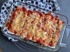 Enchiladas met paprika, kidneybonen en gehakt - Sophie Glutenvrij Tortilla Chips, Tortillas, Lasagna, Dinner, Ethnic Recipes, Food, Tomatoes, Seeds, Cake Rolls