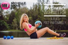 Pregnancy Workout For A Flat Post-Partum Belly. Here is the trick to having a FLAT BELLY after #PREGNANCY and a Safe & Effective Sample Pregnancy #WORKOUT.