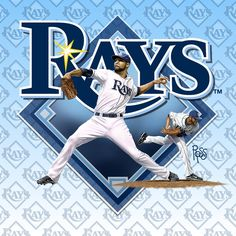 Scott Ross Illustration is a digital illustration and logo design studio in Clearwater, Florida USA. David Price, Tampa Bay Rays, Florida Usa, Digital Illustration, Logo Design, Sports, Hs Sports, Sport