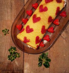 Saboreando Ideas: Brazo de gitano de nata y fresas, ideal para San Valentín