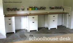 """That's My Letter: """"S"""" is for Schoolhouse Desk, diy kids workspace"""
