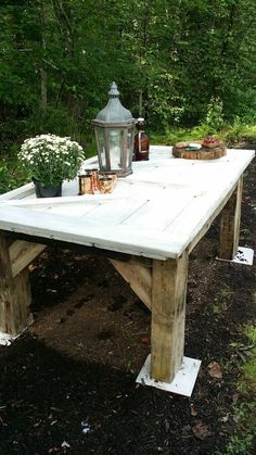 Barn beam table by NEFStudio on Etsy