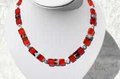 Kette in rot (mittellange Ketten bis 55cm) von trixies #437721