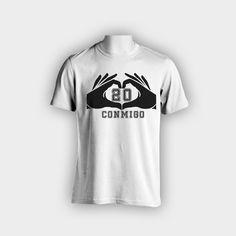 """Diseño de camiseta """"20 conmigo"""""""