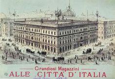 """Giuseppe Barbaglia, """"Le Cucine economiche a Porta Nuova"""", olio su ..."""