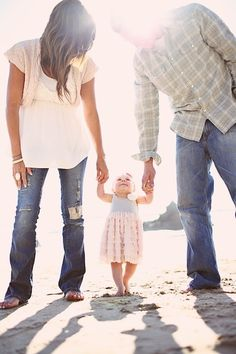 You don't have to be Matchy-Matchy, Dress-up the little one and you & the hubby stay casual! A lot of fun, when you want to run around or get silly! ~SR