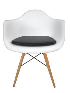 Vinyl Cushion for Eames Molded Plastic Arm Chair - Leather Like Appearance