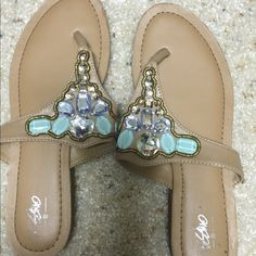 Mossimo jeweled sandals Mossimo jeweled sandals. Worn once Mossimo Supply Co Shoes Sandals