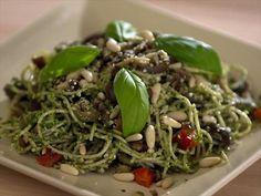 Cilantro Pine Nut Pesto Pasta Channel from CookingChannelTV.com