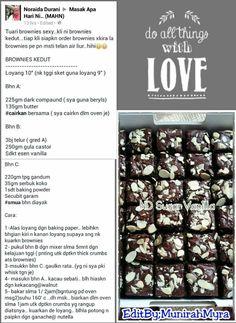 Brownies kedut Resepi Brownies, Brownie Bar, Pastry Cake, Brownie Recipes, Tarts, Cake Decorating, Dan, Cooking Recipes, Tart