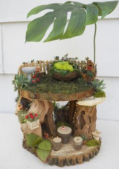 Fairy House Display for OOAK Fairies Dragons by FlowersandFrills, $45.00