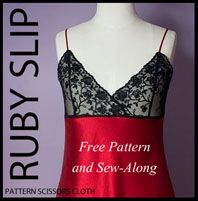 Gorgeous slip and what is looking to be awesome detailed directions for working with lace and slinky fabrics like silk.  Have to try it!