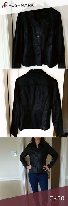 Danier Black Leather Jacket + Removable Liner Classic button-up leather jacket. Versatile piece with removable thermolite liner, so you can wear spring through fall. Two external pockets and an interior one. Great used condition.  Size XS   Too tight for me now but would likely fit 4-6 or 8. Danier Jackets & Coats Blazers Pit Pit, Fit 4, Plus Fashion, Fashion Tips, Fashion Trends, Colored Blazer, Blazers, Tights, Jackets For Women