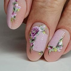 Want some ideas for wedding nail polish designs? This article is a collection of our favorite nail polish designs for your special day. Nail Art Designs, Flower Nail Designs, Nail Polish Designs, Nails Design, One Stroke Nails, My Nails, Grow Nails, Spring Nail Art, Spring Nails
