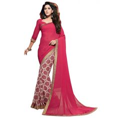 Ayesha takia Georgette Print Casual Wear Saree at just Rs.730/- on www.vendorvilla.com. Cash on Delivery, Easy Returns, Lowest Price.