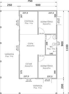 casa meia-agua 2 quartos - Pesquisa Google