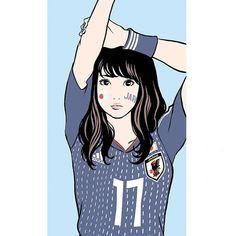 江口寿史 EGUCHI HISASHIさんはInstagramを利用しています:「Jun.2018 #illustration #artwork #manga #bandedessinee #comicart #football #worldcup #samuraiblue」