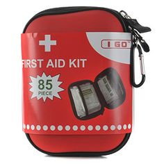 I GO 85 Pieces Hard Shell Mini Compact First Aid Kit, Small Personal Emergency Survival Kit for Travel Hiking Camping Backpacking Hunting Marine Car Emergency Survival Kit, Outdoor Survival, Survival Prepping, Hiking Tips, Camping And Hiking, Hiking Gear, First Aid Kit Travel, Gila Monster, Camping Needs