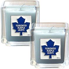 Siskiyou Toronto Maple Leafs Candle Set - Shop.Canada.NHL.com Nhl Apparel, Toronto Maple Leafs, Candle Set, Hockey, Canada, Shop, Field Hockey, Ice Hockey