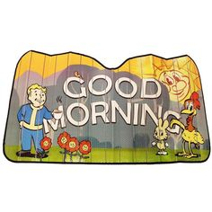Just Funky Fallout Good Morning Accordion Auto Sunshade Geek Games, Pop Games, Xbox One Games, Fallout Funny, Fallout 3, Gold Fish Casino, Fallout Power Armor, Dallas Cowboys Images, Sims 4 Expansions