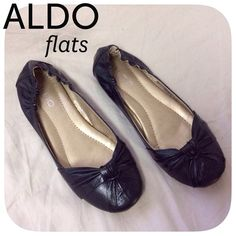"""ALDO black flats preloved in good condition. there is some """"wear and tear"""" on the inside sole (see 4th photo)  these flats are perfect for comfortable work shoes or easy everyday or night wear. can be worn dressy or casual.  size- 6 / 36 euro  BUNDLE FOR BETTER PRICE- please don't hesitate to ask questions. thanks for looking ☺ ALDO Shoes Flats & Loafers"""