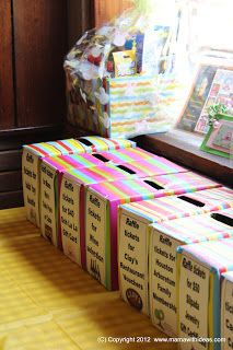 A mama with ideas...: Make your own raffle boxes...