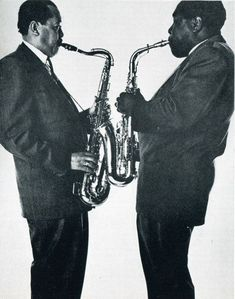 Lester Young & Charlie Parker. Photo by Irving Penn