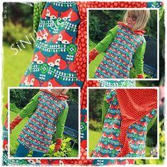 """Fuchsiges Zipfelshirt  und gleich heut zur Schule ein """"MUSS"""" für meine Motte  #jule #farbenmix #siniju #nähenmachtspaß #kidsclothes #buntewelt"""