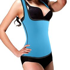 ef82be4b5b DODOING Hot Sweat Body Shaper WaistTrimmer Slimming Shirt Tummy Waist  Trainer Vest Weight Lose Shirt Womens