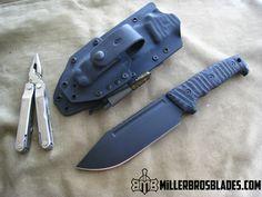 Miller Bros. Blades Custom M-8  Available in Z-Wear PM, CPM 3V and 5160 Miller Bros. Blades Custom Handmade Knives, Swords & Tomahawks.