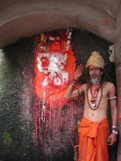At Nilachal Hill near the temple of Maa Kamakhya resides a shrine to Hanuman. Assam (India).