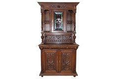 """Renaissance-Style Buffet Cabinet- 47""""L x 15""""D  x 84""""H"""