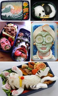Bountiful Bento! 25 Not-So Traditional Lunches | WebUrbanist Bento is the Japanese equivalent to the American bagged lunch, but it's also an art form in itself, and is strongly integrated into Japanese culture. Bento is a lunch turned into a scene or portrait, all within the confines of a small box, and created out of edible materials.
