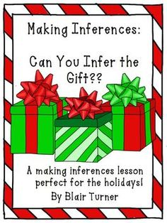 Making Inferences about GIFTS -- A Fun Lesson for Young Learners! Repinned by SOS Inc. Resources.  Follow all our boards at http://pinterest.com/sostherapy  for therapy resources.