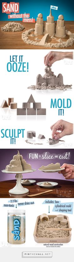 Sand by Brookstone: No-mess kinetic play sand Tree Crafts, Flower Crafts, Sand Play, Kinetic Sand, Green Nature, Beach Crafts, Rock Crafts, Nature Crafts, Natural Materials