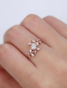 SVC-JEWELS 14k Rose Gold Plated 925 Sterling Silver Green Tourmaline Cluster Engagement Wedding Band Ring Mens