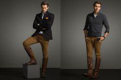 Massimo Dutti Equestrian Autumn/Winter 2014 Men's Lookbook | FashionBeans.com