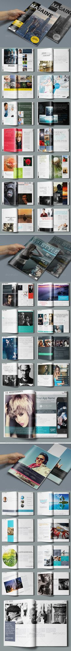 3in1 Magazine Bundle — Photoshop PSD #photoshop magazine #organized • Available here → https://graphicriver.net/item/3in1-magazine-bundle/7813912?ref=pxcr