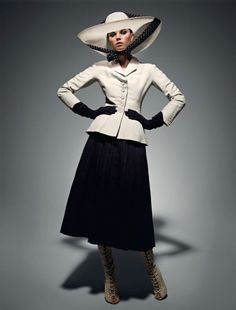 Lady in DIOR Maryna Linchuk for VOGUE Russia by Patrick ...