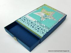 #Weihnachtskarten-#Geschenkschublade mit Sternenkarten   http://eris-kreativwerkstatt.blogspot.de/2015/12/weihnachtskarten-geschenkschublade-mit.html  #stampinup #teamstampingart #karte #weihnachten #xmas #christmas
