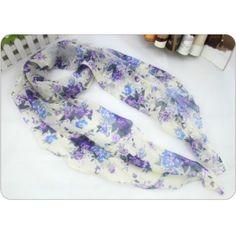 cheap fashion scarf purple flower